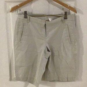 J. Crew Stretch Ladies Size 2 Khaki Shorts